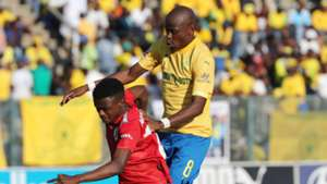 Mamelodi Sundowns v SuperSport United - August 2019 Hlompho Kekana and Teboho Mokoena