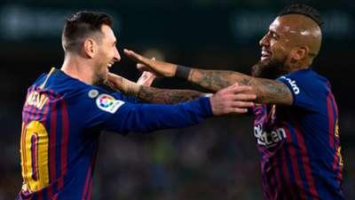 Arturo Vidal Lionel Messi - Barcelona