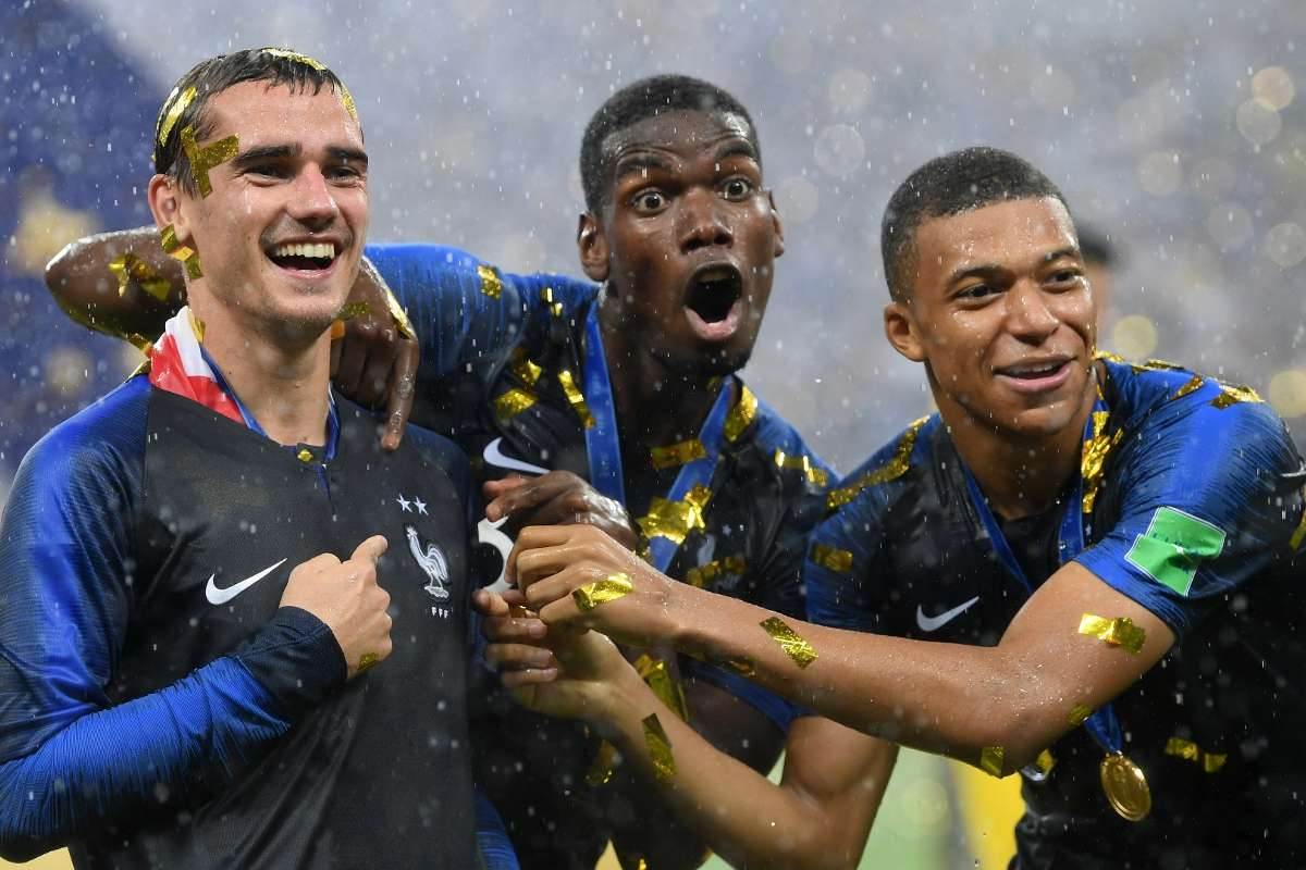 World Cup Final France Champions As Kylian Mbappe Paul Pogba And Antoine Griezmann Turn On The Style Goal Com