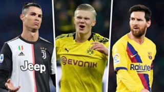 Ronaldo Salah Messi Juventus Dortmund Barcelona