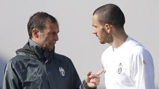 Leonardo Bonucci Massimiliano Allegri Juventus