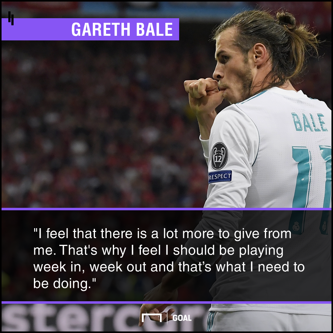 Gareth Bale Real Madrid getting better needs games