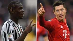 Paul Pogba Robert Lewandowski Juventus Bayern
