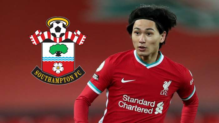 Takumi Minamino, Liverpool, Southampton badge