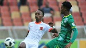 Mpho Mvelase of Polokwane City and Matome Mabeba of Baroka FC, March 2019