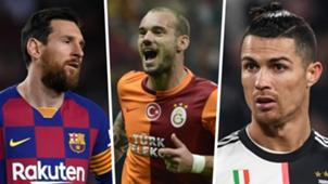 Lionel Messi Wesley Sneijder Cristiano Ronaldo composite