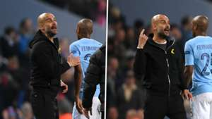 Pep Guardiola crazy eyes split