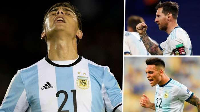 Paulo Dybala Lionel Messi Lautaro Martinez Argentina GFX