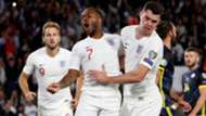 England celebrate Raheem Sterling goal vs Kosovo