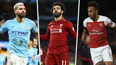Premier League top scores 2018-19 Aguero Salah Aubameyang
