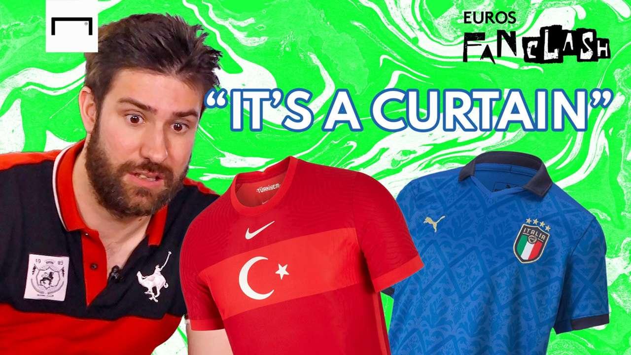 Turkey vs Italy Euros kit battle