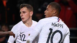 Mbappe Digne France Iceland Friendly 11102018