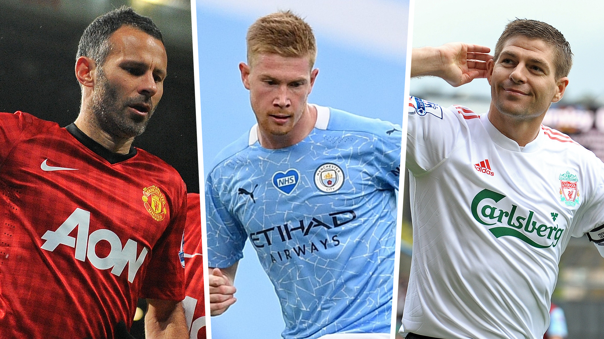 'De Bruyne reminds me of Gerrard and Giggs' - Man City star compared to Man Utd and Liverpool legends by Rooney