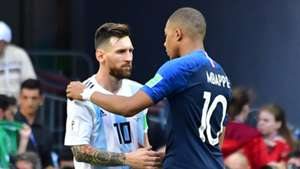 Kylian Mbappe Lionel Messi France Argentina World Cup 2018 300618
