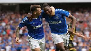 Aribo shines in emphatic Rangers victory over Hearts