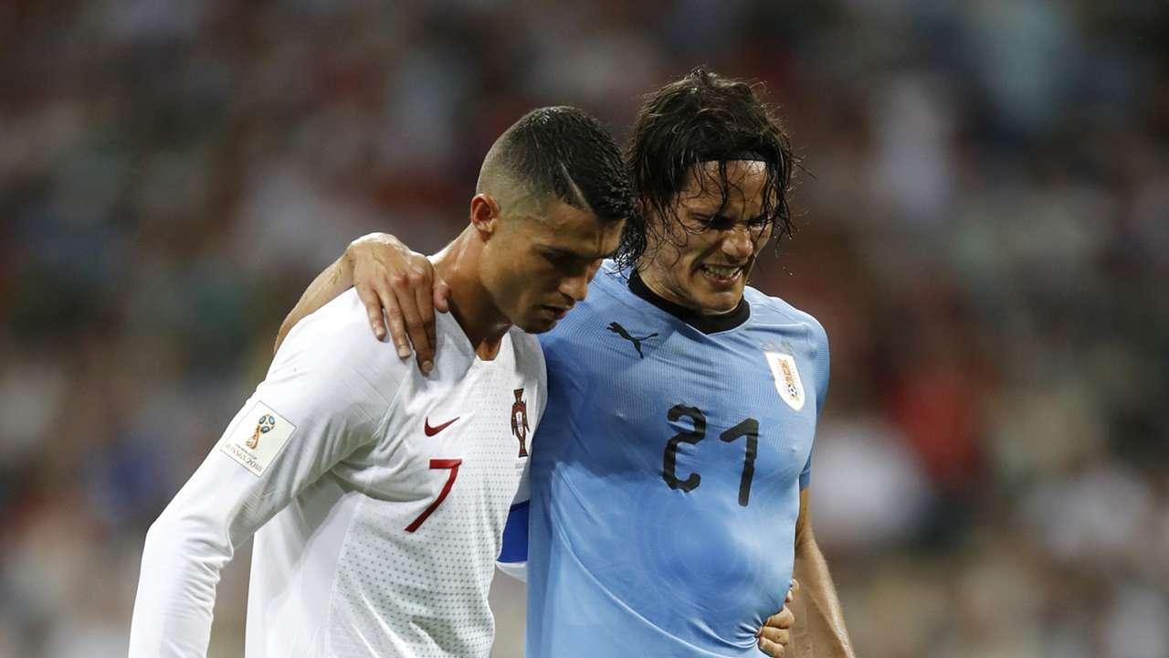Edinson Cavani Cristiano Ronaldo Uruguay Portugal World Cup 30062018