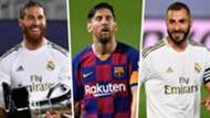 Sergio Ramos Lionel Messi Karim Benzema Real Madrid Barcelona 2019-20 La Liga GFX