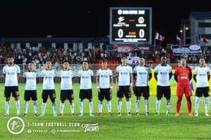 T-Team's first eleven against Sarawak 21/1/2017