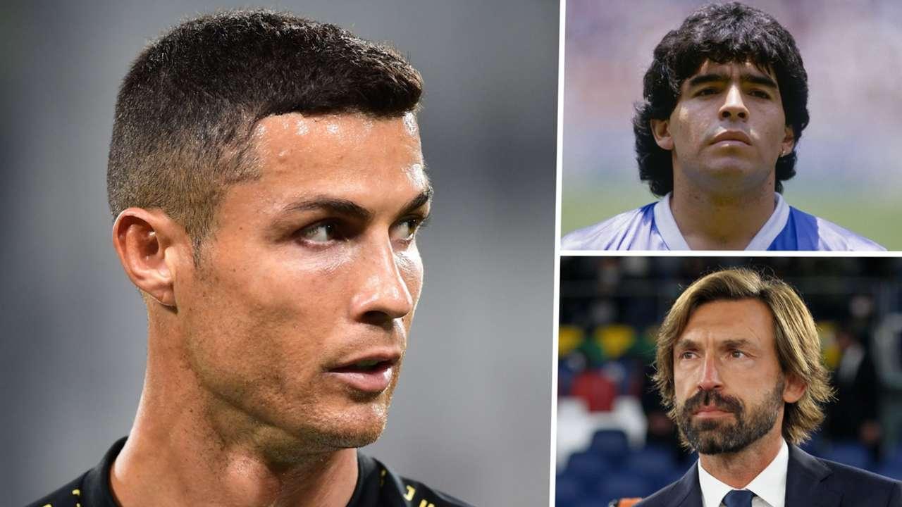 Cristiano Ronaldo, Diego Maradona, Andrea Pirlo