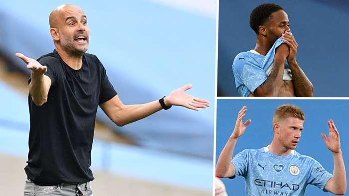 Pep Guardiola Raheem Sterling Kevin De Bruyne Manchester City GFX