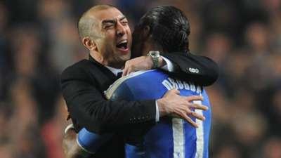 Roberto Di Matteo Didier Drogba Chelsea Napoli 2012