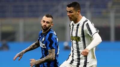 Cristiano Ronaldo Brozovic Inter Juventus Coppa Italia