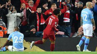 Fernandinho, Mohamed Salah, Angelino, Liverpool vs Man City