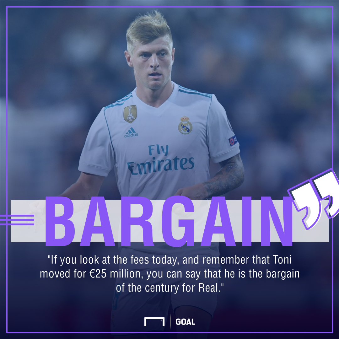 Toni Kroos Real Madrid bargain