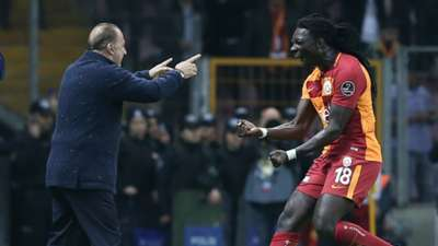 Fatih Terim Bafetimbi Gomis Galatasaray 412018