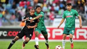 Xola Mlambo, Orlando Pirates & Siyethemba Sithebe & Emiliano Tade, AmaZulu FC, November 2018