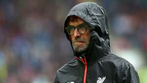 Jurgen Klopp Liverpool rain 2016