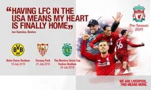 Liverpool Pre Season Tour 2019