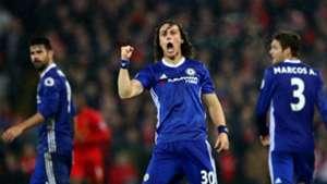 HD David Luiz celebrates goal v Liverpool