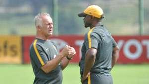 Rob Hutting and Steve Komphela Kaizer Chiefs March 2018