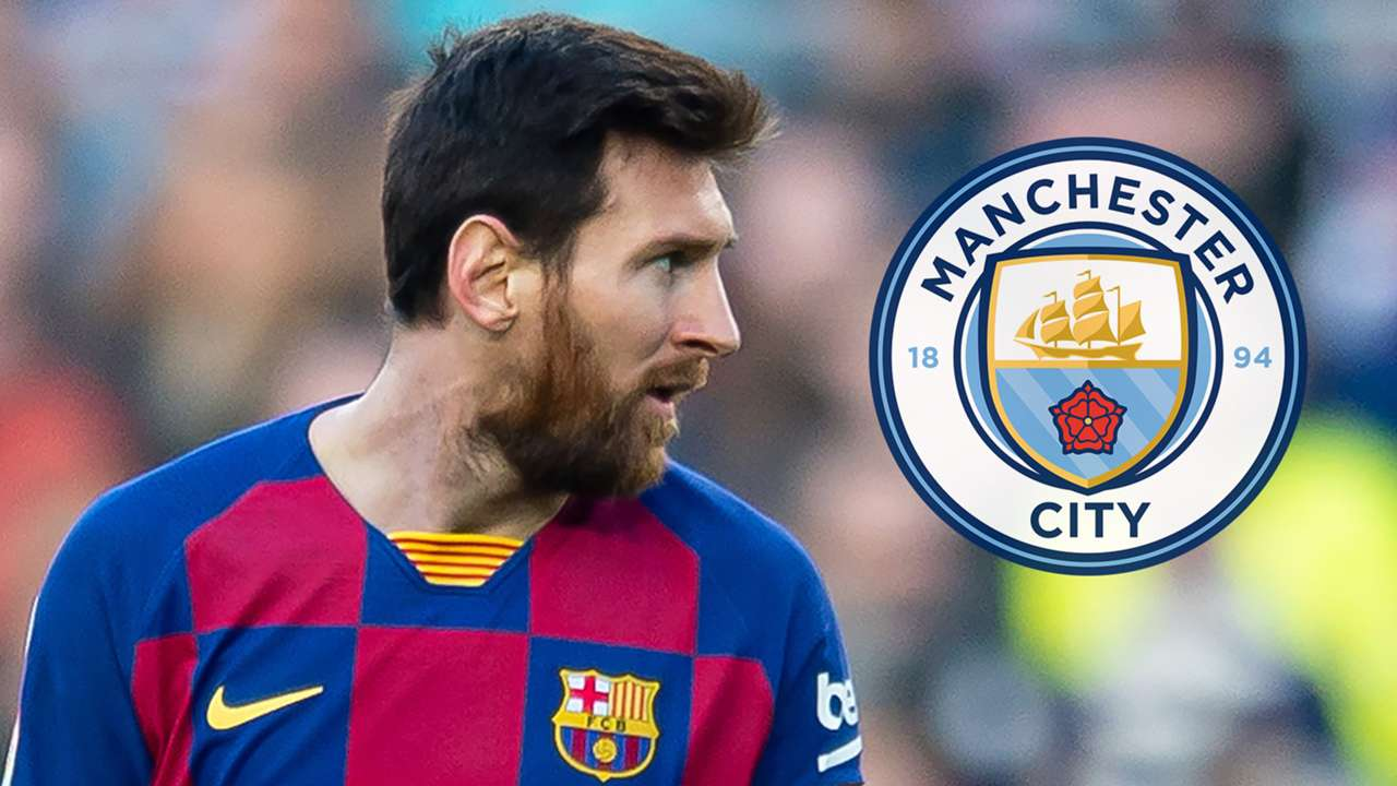 Lionel Messi Barcelona Man City
