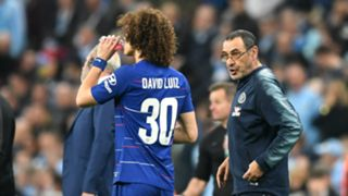 Maurizio Sarri David Luiz Chelsea Carabao Cup final 2019
