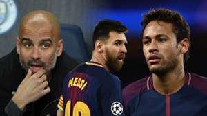 Guardiola, Messi, Neymar