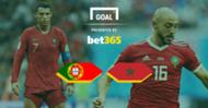 Portugal v Morocco Bet 365