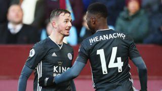 Kelechi Iheanacho James Maddison Aston Villa vs Leicester 2019-20