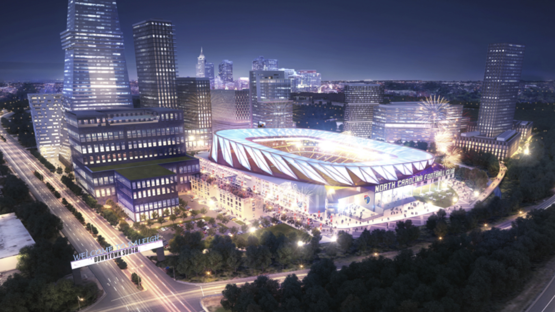 Raleigh Downtown Stadium Project Graphic