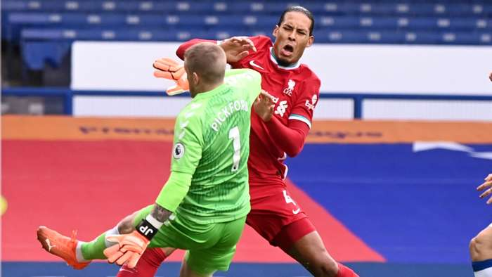 Jordan Pickford Virgil Van Dijk 2020