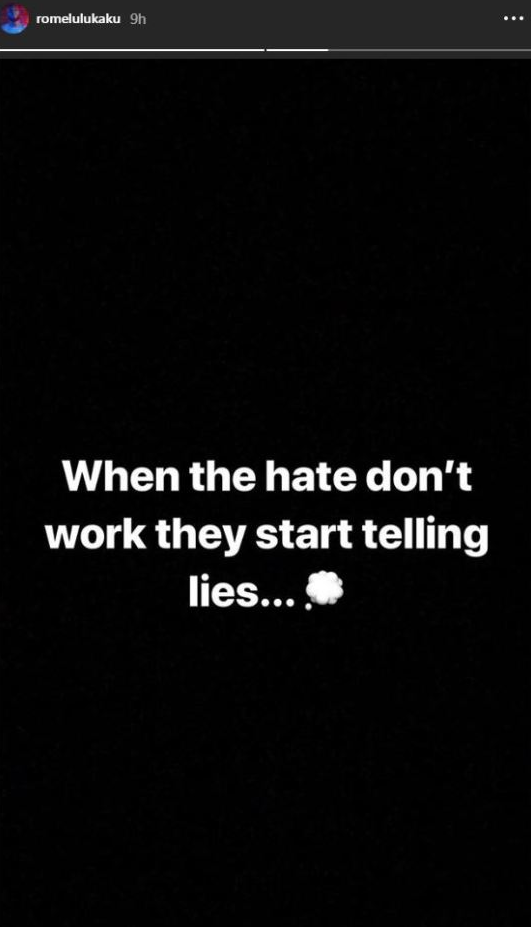 Romelu Lukaku hate don'e work start telling lies