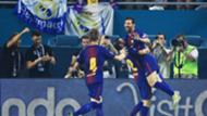 Barcelona celebrates Messi goal against Real Madrid ICC 2017