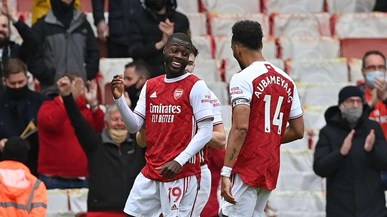 Pepe Aubameyang Arsenal 2021