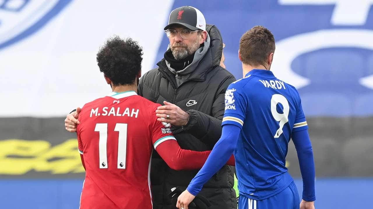 Jurgen Klopp Mohamed Salah Liverpool Leicester 2020-21