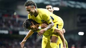 Neymar Edinson Cavani Guingamp PSG Ligue 1 13082017