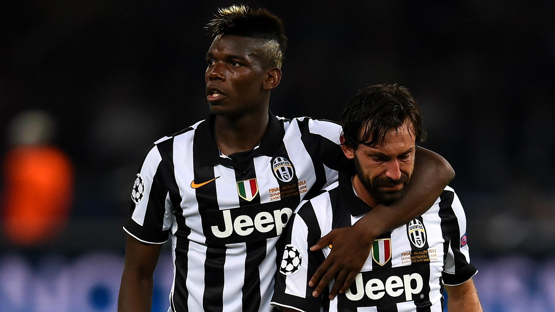 Paul Pogba Andrea Pirlo Juventus v Barcelona Champions League final 2015
