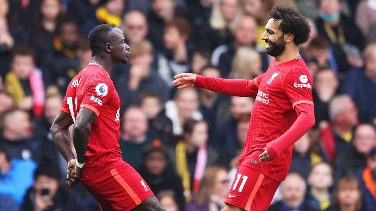 Sadio Mane Mohamed Salah Watford vs Liverpool Premier League 2021-22