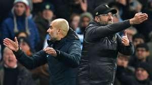 Jurgen Klopp Pep Guardiola Manchester City Liverpool 030119