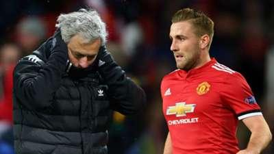 Jose Mourinho, Luke Shaw, Man Utd